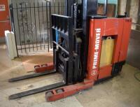 Prime Mover Electric Fork Lift Model RR30C, 2125 Hours, Internal Battery Needs Replaced, Click For Details Includes Exide Lead Acid Battery Charger, NPC12-3-850L, Hardwired In, Bidder Responsible For Proper Removal - 31