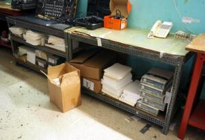 Custom Built Metal Framed Work Benches, Qty 2, 30.5in x 48in x 24in, Contents Not Included