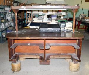 4 Person Lighted Work Station 55in x 7in x 48in, Bidder Responsible For Proper Removal, Hard Wired In