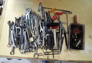 Standard Combination Wrenches And Allen Wrenches