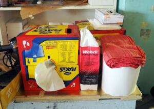 Shop Rags, Handi Pads, Paper Towels And More