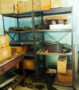 Metal Storage Racks With Adjustable Shelves Qty 2, 75in x 36in x 30in, Contents Not Included, Second Day Load Out Only