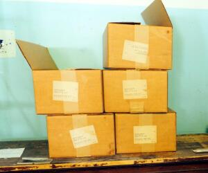 Vintage Card Storage Boxes, Qty 8 Cases