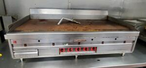 "MagiKitch'n 60"" Natural Gas Countertop Griddle With Thermostatic Controls, Model # Not Found, Bidder Responsible For Proper Disconnection & Removal"