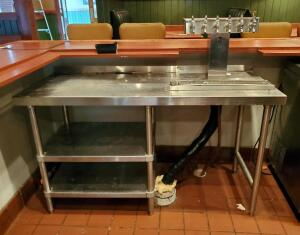 Perlick 6-Tap Century Beer System With Stainless Steel Table, 50in x 60in x 24in