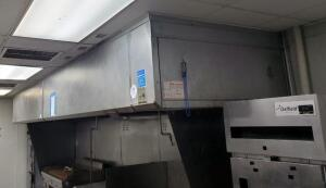 Kalthoff Fabricators Inc Stainless Steel Commercial Exhaust Hood 20ft x 58in, Bidder Responsible For Proper Removal See Description