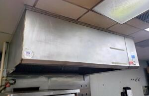 Kalthoff Fabricators Inc Stainless Steel Commercial Exhaust Hood 7ft x 58in, Bidder Responsible For Proper Removal See Description
