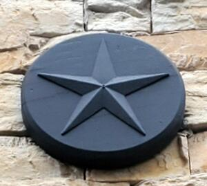 Exterior Architectural Star Plaques Qty 10, Bidder Responsible For Proper Removal, Mounted To Exterior