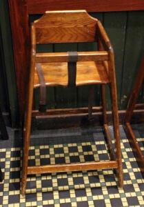 Wood Restaurant High Chair, 29in x17in x19in