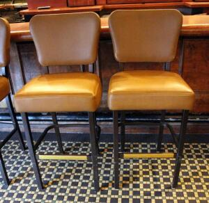 MTS Seating Upholstered Bar Stools Qty. 2, Seat Height 30in, Back Rest 45in