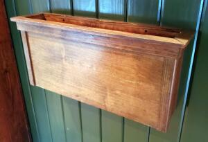 Wall Mounted Wood Menu Pockets Qty 3 12.25in x27in x6.5in, Mounted To Walls, bidder Responsible For Proper Removal