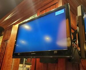 Dynex 37in LCD TV, Model DX-37L150A11, With Pivoting Wall Mount, Bidder Responsible For Removal, No Remote