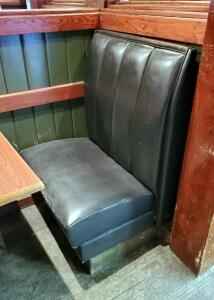 Vinyl Upholstered Restaurant Single-Place Booth Seating, Single Sided End Seat, 28in x43in x24in