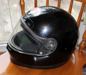 Bell Motorcycle Helmet, Labeled Medium 5/8 GR.1500, Made In Italy
