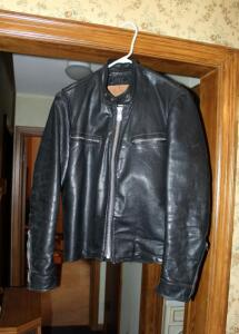 Mens Excelled Genuine Leather Jacket, Size Unmarked, Appears To Be Size Small