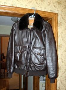 William Barry Mens Lined Leather Jacket, Size 40 Long