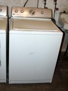 Maytag Centennial Washer, Model MVWC300VW1, With Commercial Technology, Powers On, Bidder Responsible For Proper Removal