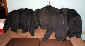 Mens Jackets Including Members Only Size 38, Calvin Klein Size Medium, And Upstream Bomber Jacket Size Unmarked