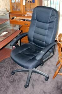 Upholstered Adjustable Rolling Office Chair