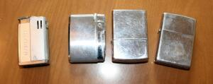 ZIppo Lighters Qty 2, Kaywoodie Lighter, And Modern Style Lighter, Total Qty 4 Pieces