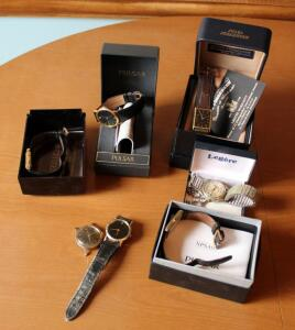 Watch Collection Including Citizen, Pulsar, And More, Total Qty 7 Watches