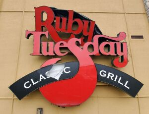 Lighted Ruby Tuesday Retail Sign, Needs Repair, Bidder Responsible For Proper Disconnection & Removal, Hard Wired In, Electrical Wires Must Be Capped