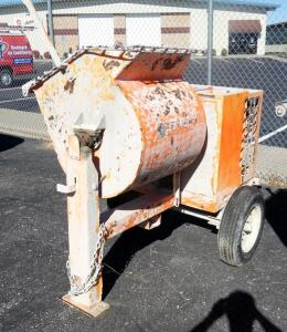 EZG EZG12 Grout, Mortar, Concrete Mixer, 3-4 Bag Capacity or 12 Cu Ft., 11.7 HP Honda Gas Engine, 1231 Lbs Empty, See Description For Video