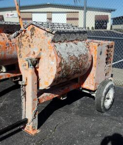 EZG EZG9 Grout, Mortar, Concrete Mixer, 2-3 Bag Capacity or 9 Cu Ft., 7.9 HP Honda Gas Engine, 970 Lbs Empty, See Description For Video