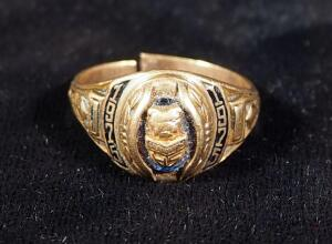 10K Gold Jostens Grandview (MO) High School 1975 Class Ring, Size 7-1/2, Adjustable, 4.6 g Total Weight