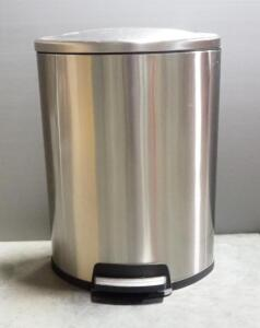 Tramontina Step Trashcan With Interior Liner And Soft-Close Lid, Believed To Be 13 Gal.