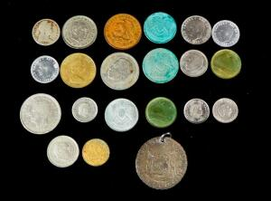 Foreign Coin Collection, Total Qty 21, Includes coins From Spain, Morocco, Netherlands And More, Years Vary