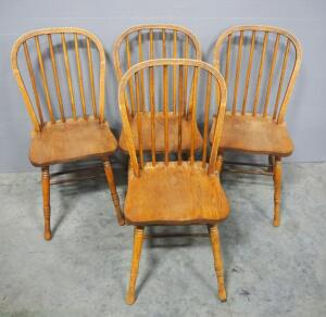 Spindle Back Dining Chairs, Qty 4