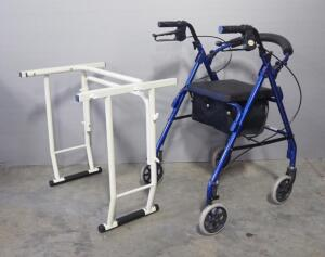Revolution Mobility Walker With Seat Model MRT-413-B, And Assist Bar