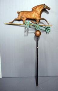 Copper Weathervane With Horse Ornament