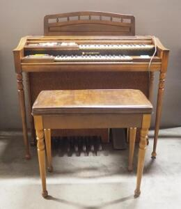 Hammond Stage II Rhythm Electric Organ, Powers On, With Bench