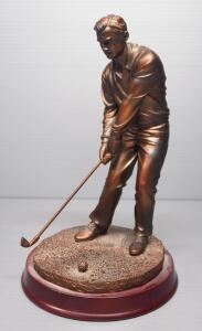"Herco Golfer During Down Swing Figurine, 9.75"" High"