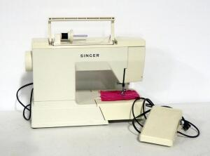 Singer Imperial Anniversary Edition Sewing Machine Model 7050, With Foot Pedal And Cover, Powers On
