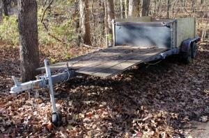 1985 Homemade Double Axle Trailer, Missouri Title