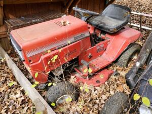 Montgomery Ward Commercial Grade 7 Speed Riding Lawn Mower With 38 Inch Mower Deck, Needs Battery, Unknown Working Order