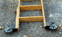 Cotterman Company Solid Oak 10.5ft Rolling Library Track Ladder - 2