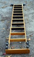 Cotterman Company Solid Oak 10.5ft Rolling Library Track Ladder - 4