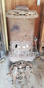 Antique Great Western Stove Company Cast Iron Gas Stove, Needs Repair