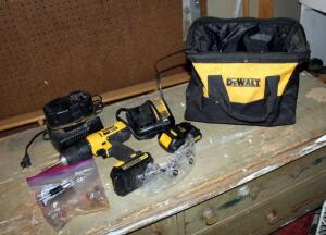 DeWalt Cordless 1/2 Inch Drill/Driver Model DCD771, Includes Charger, 20 Volt Batteries, Bits, And Carrying Bag