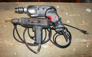 Master Mechanic 1/2 Inch Electric Hammer Drill Model 134468 And Black And Decker 3/8 Inch Drill