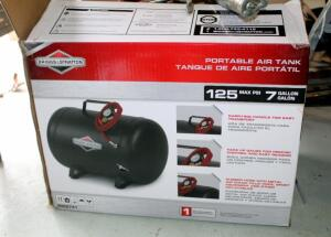 Briggs And Stratton Portable 7 Gallon Air Tank, Like New