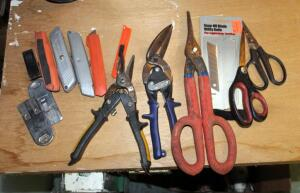Tin Snips, Utility Knives, And Scissors
