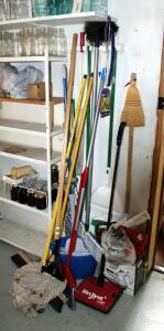 Brooms, Mops, Dirt Devil Sweeper, Hand Vac, Steam Cleaner, And More