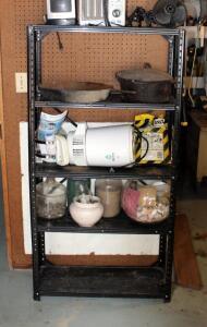 Metal Adjustable Storage Rack, 58in x 30in x 12in, Contents Not Included