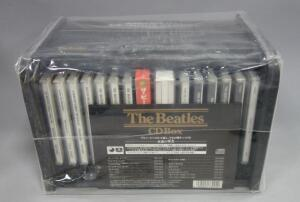 The Beatles CD Box, 2005 Limited Edition Japan Wood Roll-Top Bread Bin Set TOCP-50501-16, Sealed, New