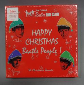 "The Beatles Official Fan Club Christmas Records, Limited Edition Colored 7"" Vinyl Box Set, Sealed, New"